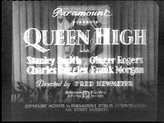 Queen High - Film title card