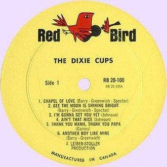 Red Bird Records - Red Bird label of the Dixie Cups' album