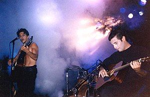 Norman Bedard - Norman Bedard performing with Robert Consoli (right) in 1992.