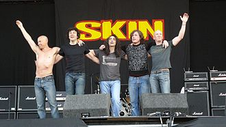Skin (British band) - Skin appearing live at Download Festival, 2009
