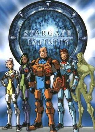Stargate Infinity - From left to right: Stacey Bonner, Seattle Montoya, Gus Bonner, R.J. Harrison and Ec'co.