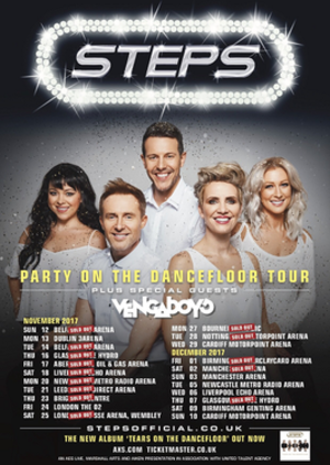 Party on the Dancefloor Tour - Image: Steps Party on the Dancefloor Pomo Poster Extra Dates