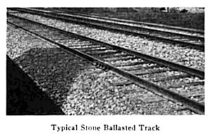 "Gandy dancer - ""Typical Stone Ballasted Track"", photo published in 1921"