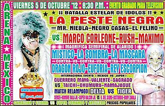 CMLL Super Viernes (October 2012) - Poster for the October 5th event