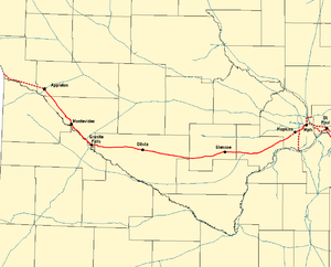 Twin Cities and Western Railroad - Image: TCWR Map