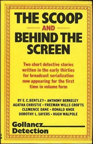 The Scoop and Behind the Screen - Dust-jacket illustration of the first UK edition