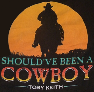 Should've Been a Cowboy - Image: Toby Keith Cowboy single cover