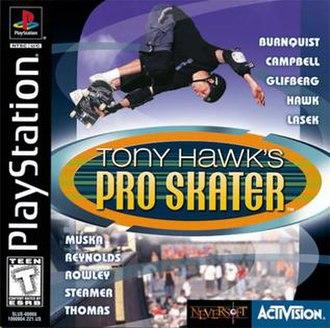 Tony Hawk's Pro Skater - North American PlayStation cover art