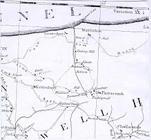 The Trentishoe area on Donn's one inch to the mile survey of 1765.