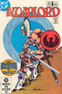 Warlord (DC Comics) sword and sorcery comic book published by DC Comics