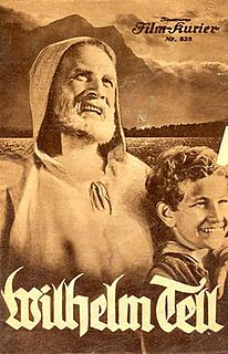 <i>William Tell</i> (1934 film) 1934 German-Swiss historical film directed by Heinz Paul