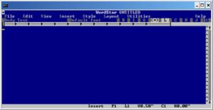 WordStar - WordStar 7 under Windows XP