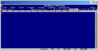 WordStar - WordStar 7 under Windows XP