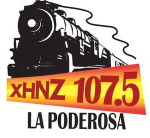 XHNZ-FM - Image: XHNZ La Poderosa 107.5 logo
