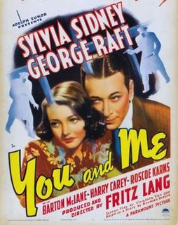 <i>You and Me</i> (1938 film) 1938 Fritz Lang film