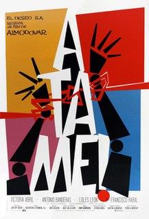 <i>Tie Me Up! Tie Me Down!</i> 1990 Spanish dark romantic comedy film by Pedro Almodóvar