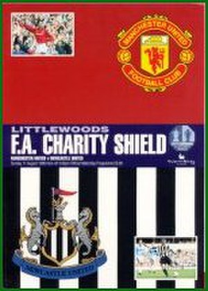 1996 FA Charity Shield - The match programme cover