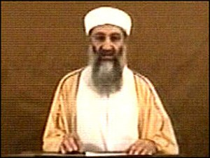 2004 Osama bin Laden video - A still of the 2004 Osama bin Laden video
