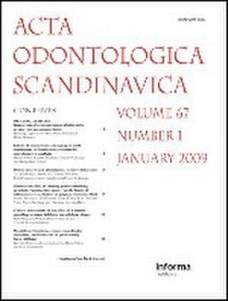 Acta Odontologica Scandinavica - Image: Acta Odontologica Scandinavica