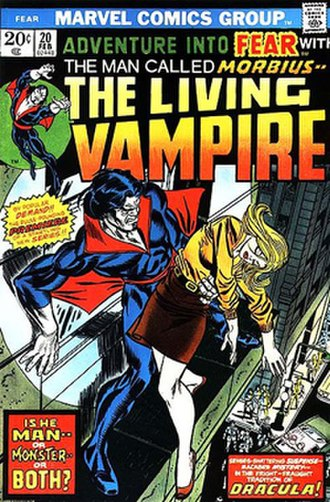 Morbius, the Living Vampire - Image: Adventure into Fear 20