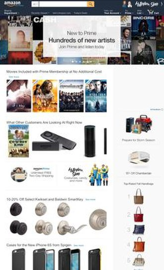 Amazon (company) - Image: Amazon.com screenshot