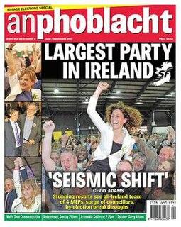 <i>An Phoblacht</i> Irish republican newspaper published by Sinn Féin
