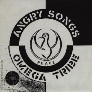 "Crass Records - Sleeve of ""Angry Songs"" by Omega Tribe, sleeve designed by Gee Vaucher and Omega Tribe"