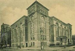 Baltimore City College on Howard and Centre Streets (postcard ca. 1900).jpg