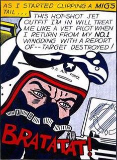 <i>Bratatat!</i> painting by Roy Lichtenstein