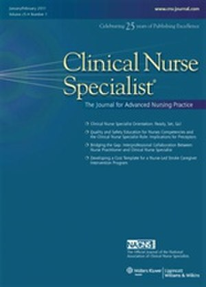 Clinical Nurse Specialist (journal) - Image: CNS Journal Cover