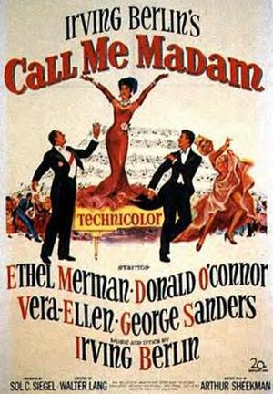 Call Me Madam (film) - Original film poster