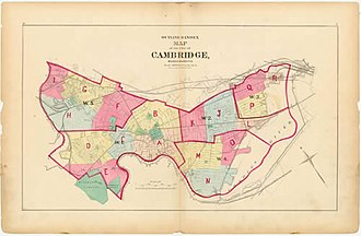 Cambridge, Massachusetts - Map of Cambridge from 1873