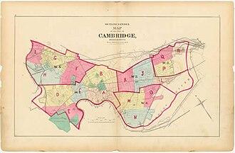 Cambridge, Massachusetts - Map of Cambridge from 1873