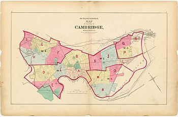 A map of Cambridge from 1873.