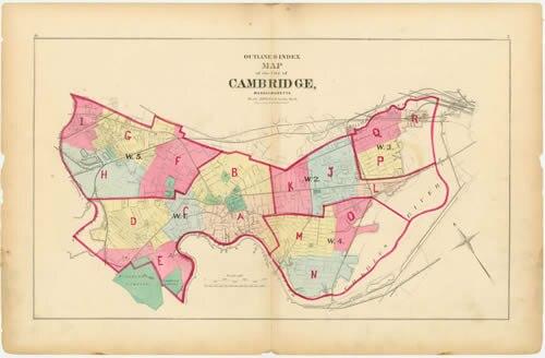 Cambridge 1873 WardMap