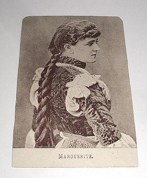 "Cerealine - Cerealine trading card (""Marguerite""), late 19th century, Moss Engraving Co."
