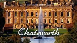 Series title over a picture of Chatsworth House