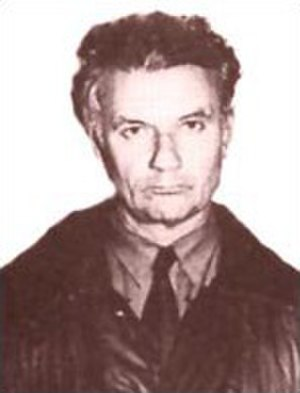 Andrei Chikatilo - Mug shot of Andrei Chikatilo, taken after his arrest in November 1990