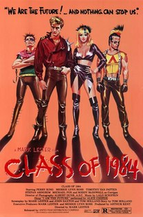 <i>Class of 1984</i> 1982 Canadian-American action-thriller movie directed by Mark L. Lester
