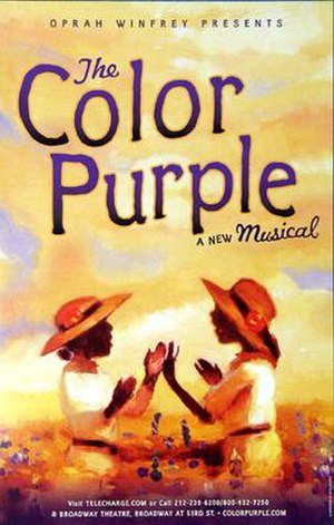 The Color Purple (musical) - Original poster from The Broadway Theatre production, 2005