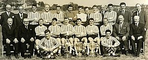 Derry City F.C. - The staff and squad of Derry City in 1965