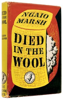 <i>Died in the Wool</i> book by Ngaio Marsh