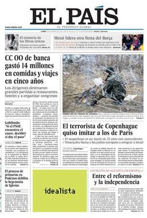 El País - El País newspaper (16 February 2015)