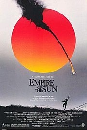 13-year-old Bale with Nigel Havers in Empire of the Sun (1987).