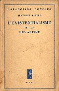 <i>Existentialism Is a Humanism</i> 1946 book by Jean-Paul Sartre
