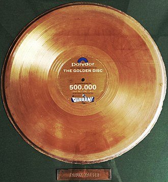 Qurbani (film) - Faruk Kaiser's Golden Disc accolade for Qurbani.