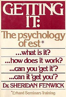 <i>Getting It: The Psychology of est</i> Non-fiction book by Sheridan Fenwick