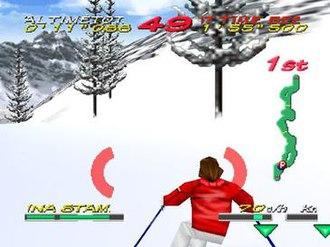 Big Mountain 2000 - A screenshot of Big Mountain 2000 gameplay on Nintendo 64.