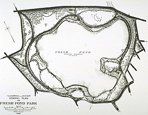 Fresh Pond (Cambridge, Massachusetts) - Image: Fresh Pond landscape plan by Olmsted
