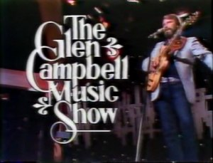 "The Glen Campbell Music Show - Opening shot of episode 22 of The Glen Campbell Music Show: Glen Campbell performing ""Saturday Night"""
